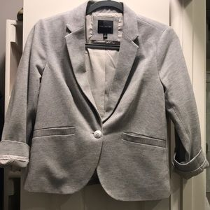 Gray Blazer with white/gray lining | The Limited